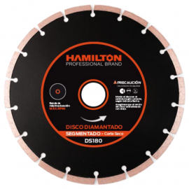 Disco Diamantado Hamilton 180mm Segmentado