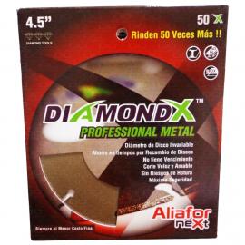 "Disco Diamantado De Debaste Para Metales Diamond Aliafor Next 4.5"" 115mm"