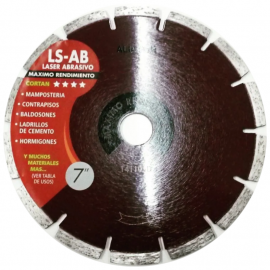 "Disco Diamantado Aliafor Ls-Ab Mx 7"" 180mm"