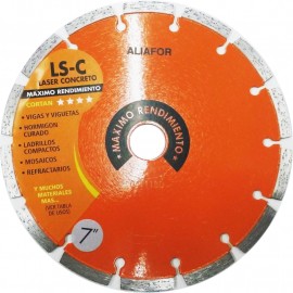 "Disco Diamantado Aliafor Ls-C Mx 7"" 180mm"