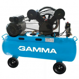 Compresor 100L Gamma G2803 Bicilíndrico 3hp Baja/Baja