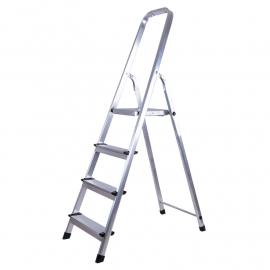 Escalera Plegable De Aluminio Tipo Tijera 4 Peldaños KLD 1751