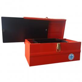 Caja De Herramientas Metálica 330x180x160mm Con Bandeja Interna