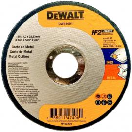 Disco Centro Plano Dewalt Abrasivo 115 X 1.0 X 22.23 Acero Inoxidable y Metal