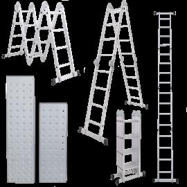 Escalera Multiproposito Lusqtoff Aluminio Con Plataforma 4x4 - 16 Escalones