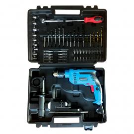 Taladro Percutor Gamma 13mm 710w + Kit y Maletín