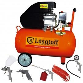 Compresor de aire 50 litros 2,5HP Lusqtoff + Kit de 5 acc.