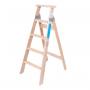 Escalera Pintor De Madera 5 Peldaños Escalones Tipo Tijera 1.32 mts Ramponi