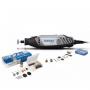 Minitorno Dremel Serie 3000 - 1300w + 10 Acc y caja de 75 acc.