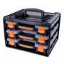 Gavetero Plástico Tactix Con 3 Cajones y Organizadores 38x28x24 Cmts